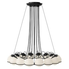 Gino Sarfatti Model 2109/16/14 Chandelier in Black