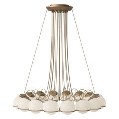 Gino Sarfatti Model 2109/16/14 Chandelier in Brass
