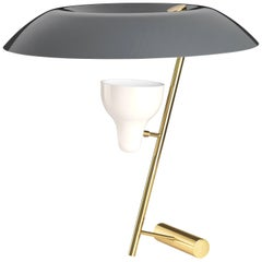 Gino Sarfatti Model #548 Table Lamp in Gray and Polished Brass