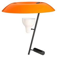 Gino Sarfatti Model #548 Table Lamp in Orange and Burnished Brass