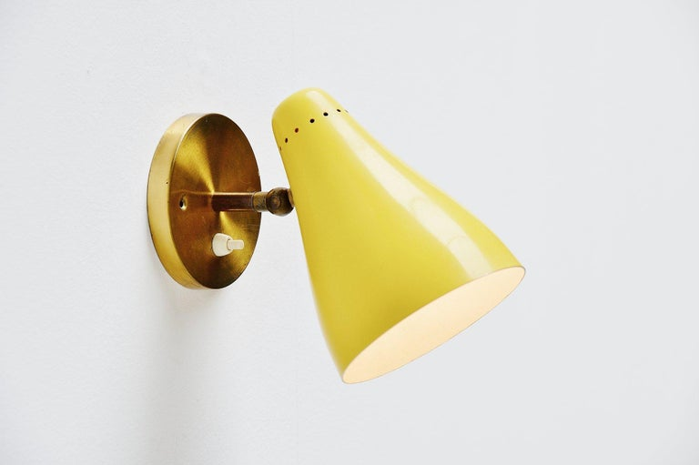 Cold-Painted Gino Sarfatti Sconces Model 16c by Arteluce, Italy, 1948-1950 For Sale