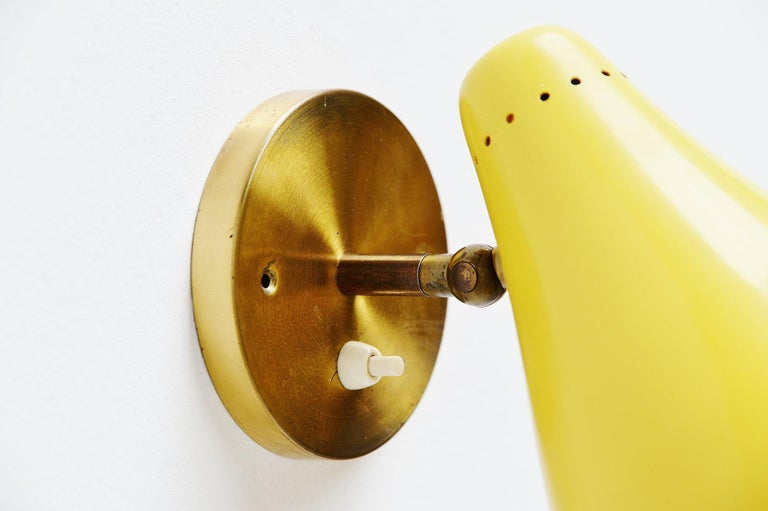 Gino Sarfatti Sconces Model 16c by Arteluce, Italy, 1948-1950 In Good Condition For Sale In Roosendaal, Noord Brabant