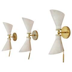 Gino Sarfatti Wall Lights Model '131' in Brass and Metal