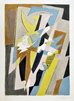 Danseuse - Original Lithograph by Gino Severini - 1957