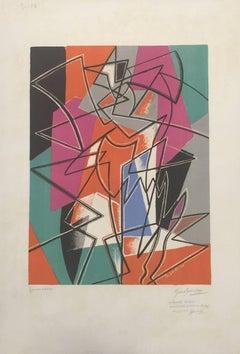 Pas de Deux - Original Lithograph by Gino Severini - 1952