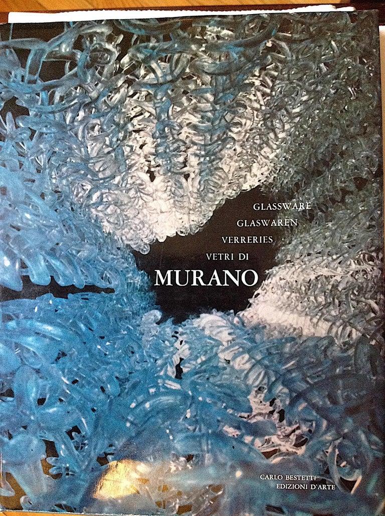 Murano Glass Gino Vistosi Cascading Torcello Disk Chandelier For Sale