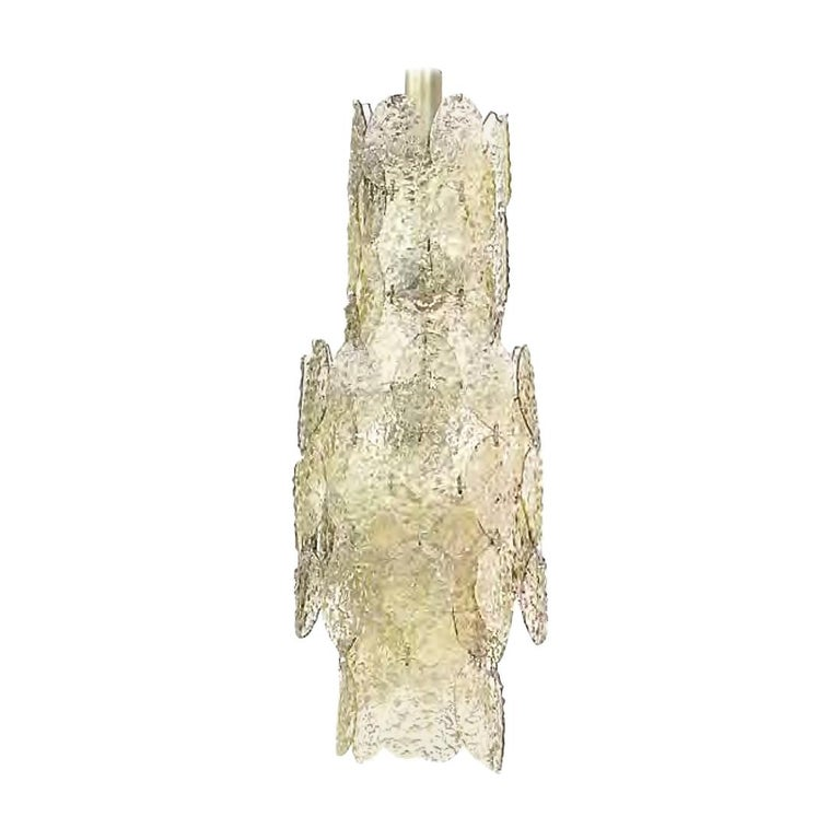 Gino Vistosi Cascading Torcello Disk Chandelier For Sale