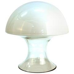 Gino Vistosi Italian Modern Murano Glass Mushroom Table Lamp