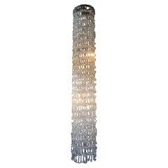 Gino Vistosi Midcentury Glass Chain Link Chandelier
