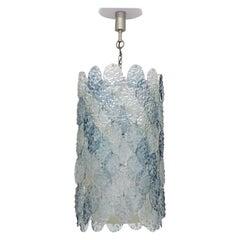 Gino Vistosi Murano Glass Ceiling Lamp for Vistosi, Italy, 1966