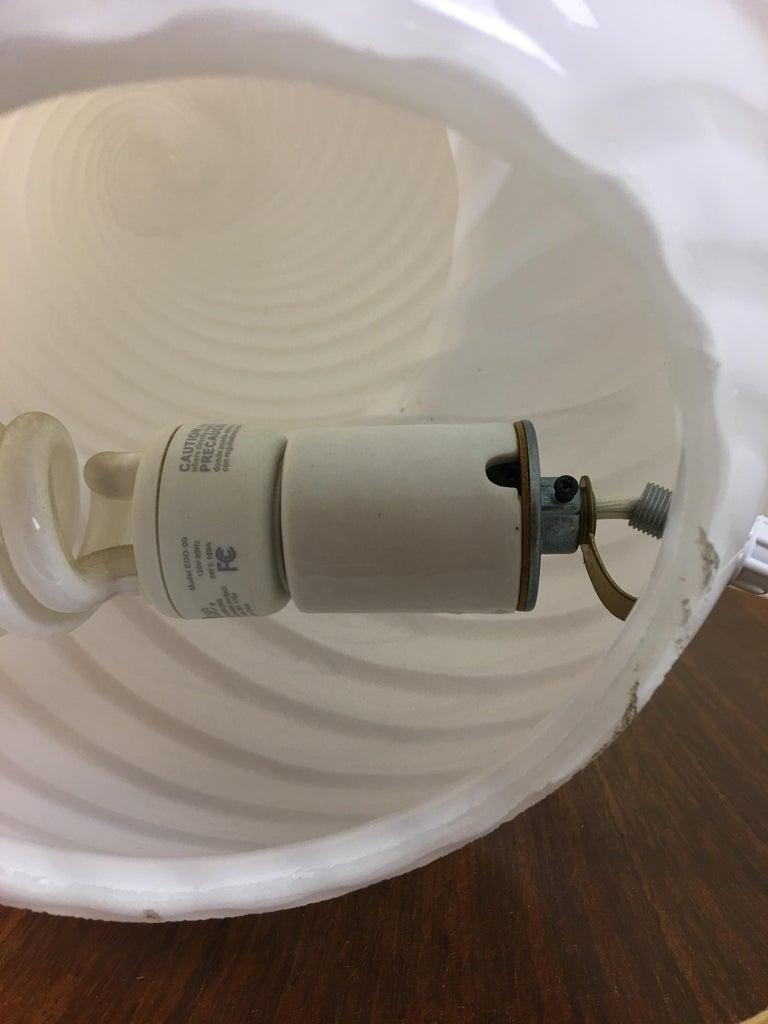 Italian Gino Vistosi Murano Swirled Pattern Glass Lamp For Sale