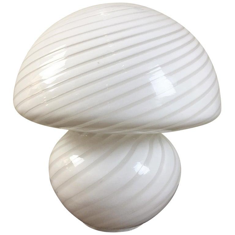 Gino Vistosi Murano Swirled Pattern Glass Lamp For Sale