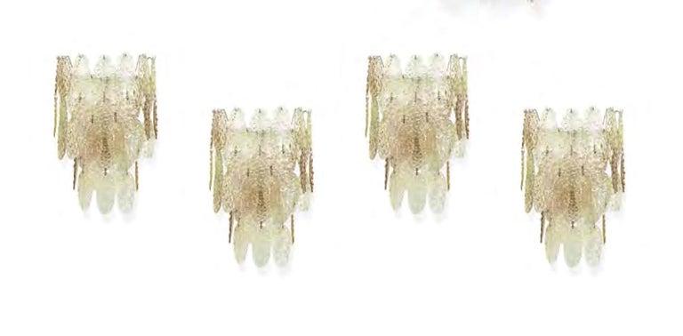 Gino Vistosi Torcello Murano Glass Disk Sconces For Sale 8