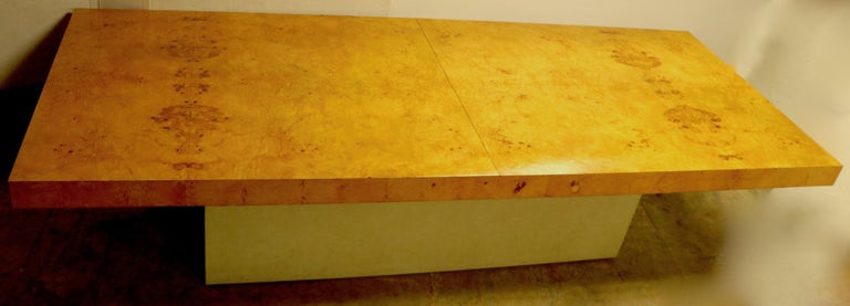 Ginormous Burl Top Conference Dining Table after Baughman For Sale 3