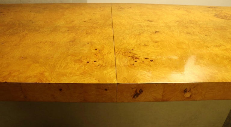 Ginormous Burl Top Conference Dining Table after Baughman For Sale 4