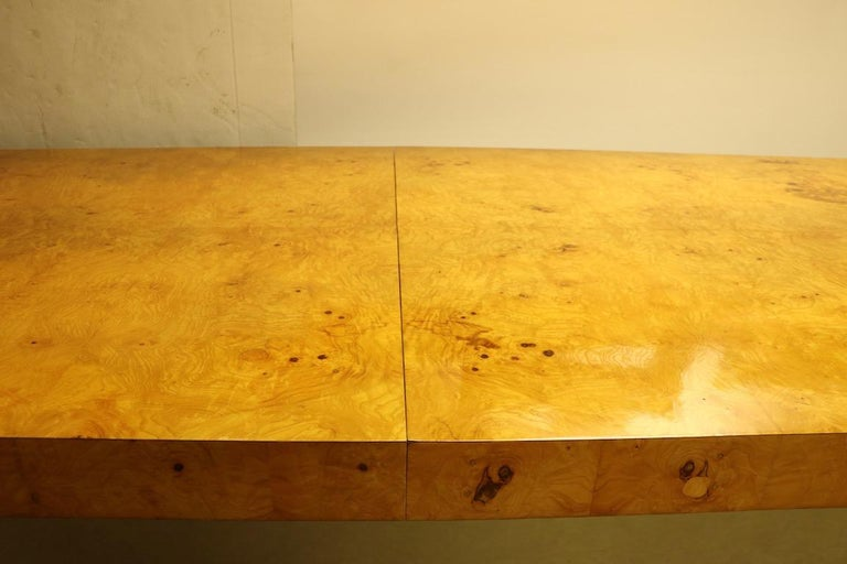 Ginormous Burl Top Conference Dining Table after Baughman For Sale 6