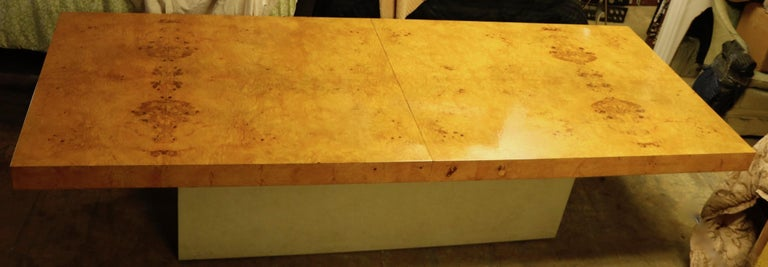 Mid-Century Modern Ginormous Burl Top Conference Dining Table after Baughman For Sale