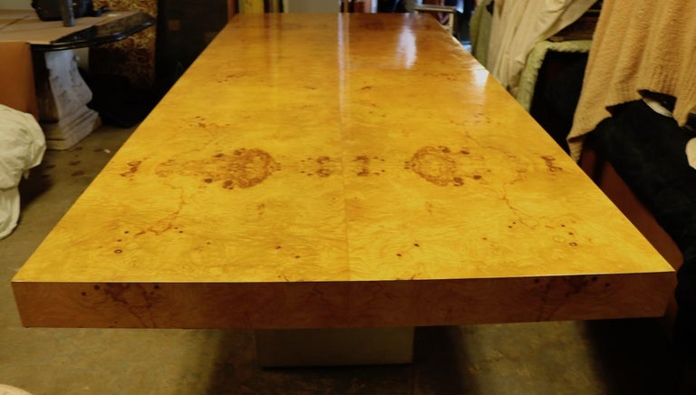Ginormous Burl Top Conference Dining Table after Baughman In Good Condition For Sale In New York, NY