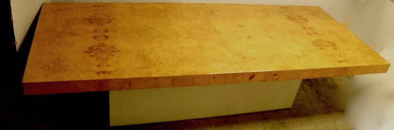 20th Century Ginormous Burl Top Conference Dining Table after Baughman For Sale