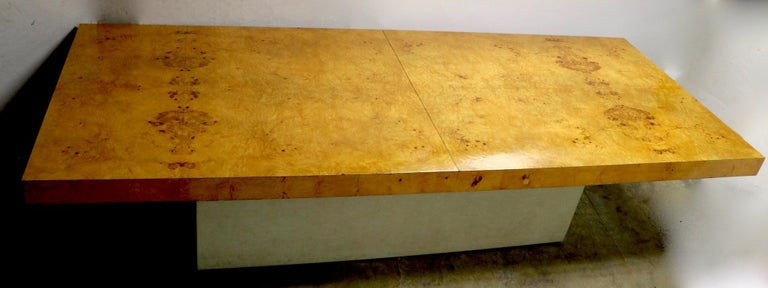 Ginormous Burl Top Conference Dining Table after Baughman For Sale 2
