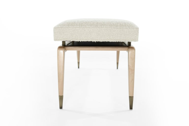 Mid-Century Modern Gio Bench in Natural Maple For Sale