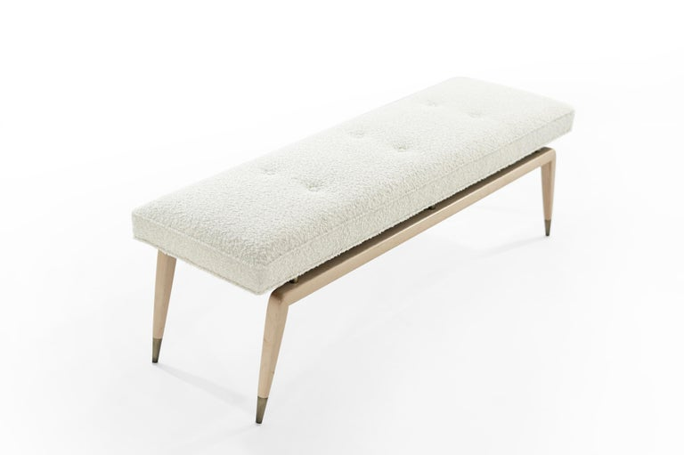 American Gio Bench in Natural Maple For Sale