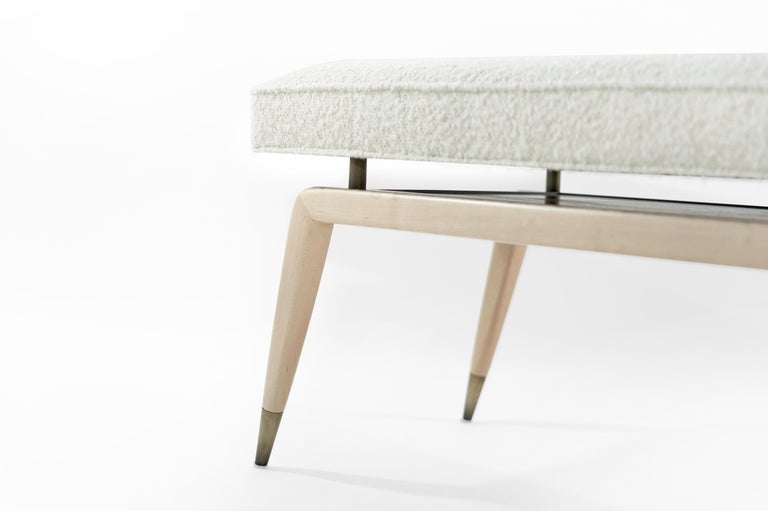 Contemporary Gio Bench in Natural Maple For Sale