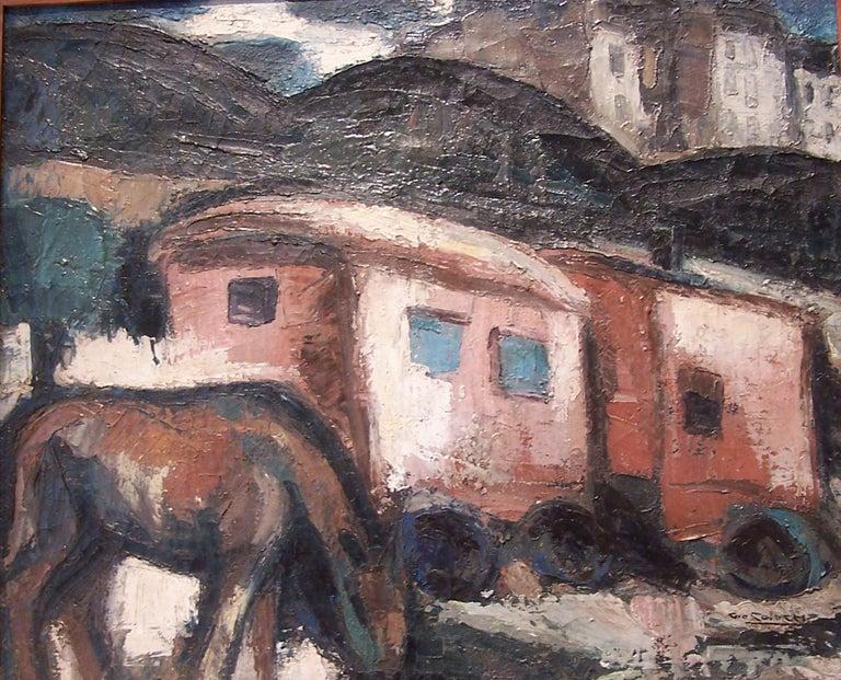 French Gio Colucci, Les Roulottes, circa 1930 For Sale