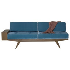 Gio' Contemporary Sofa Bed Made of Solid Cherrywood