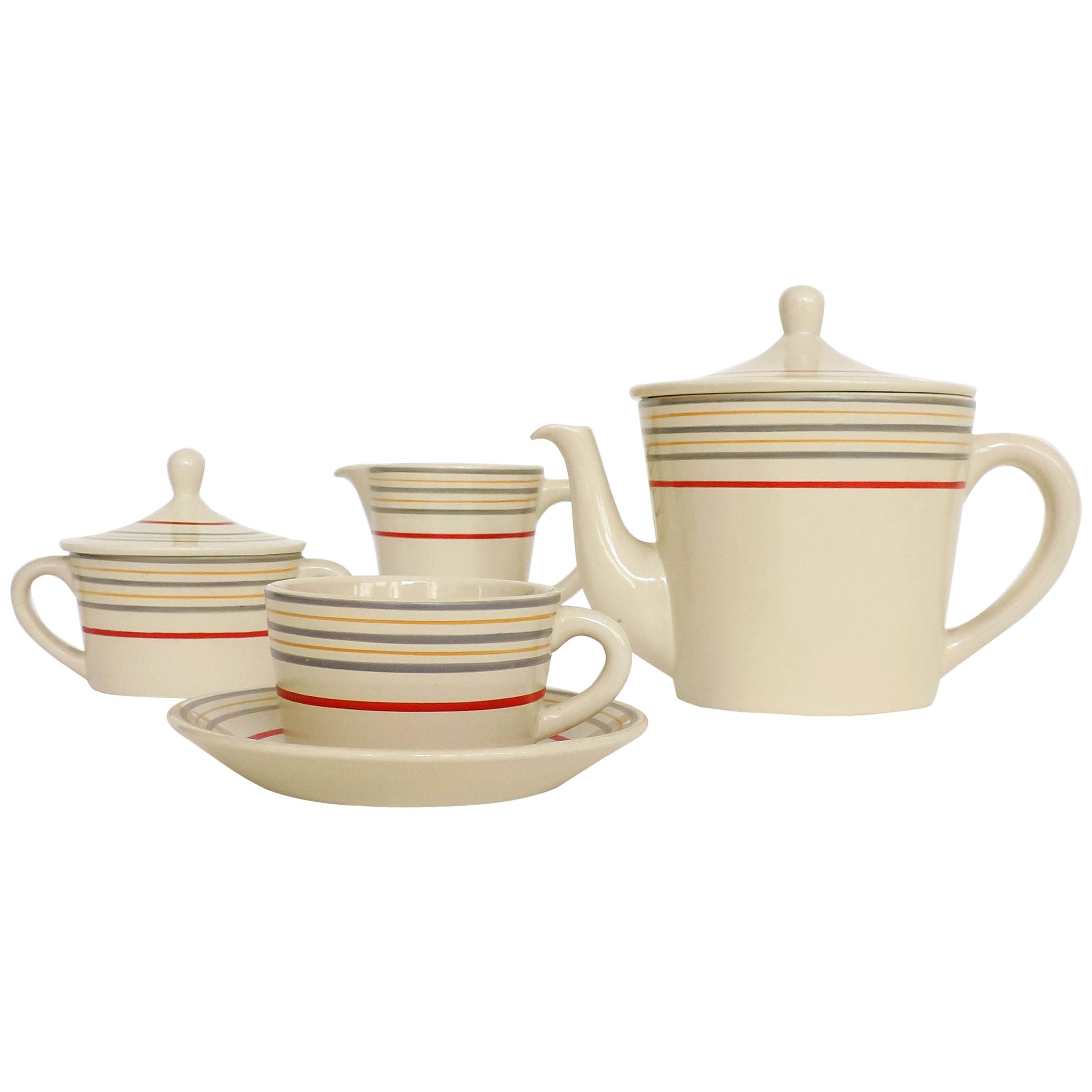 Gio Ponti 20th Century Ceramic Coffee set for Richard, Italy, 1920s