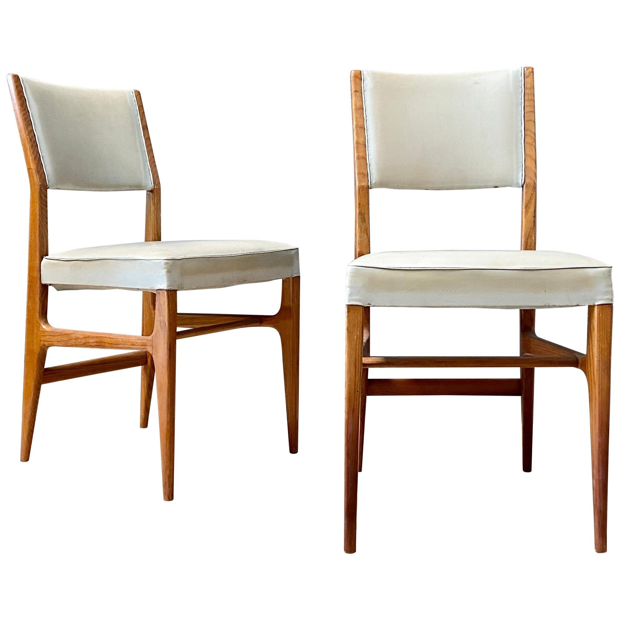 """Gio Ponti """"602""""Dining Chairs for Cassina, 1954, Set of 2"""
