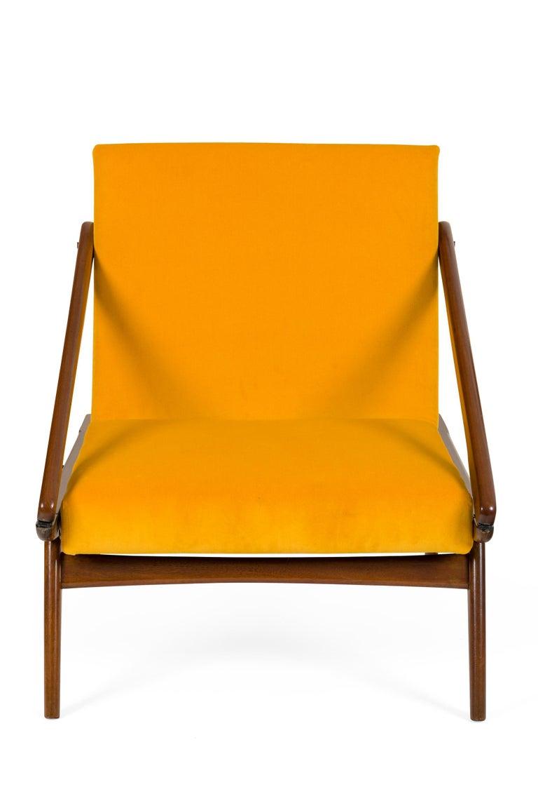 Mid-Century Modern Gio Ponti Adjustable Armchairs/Ottomans, Italy, 1955 For Sale