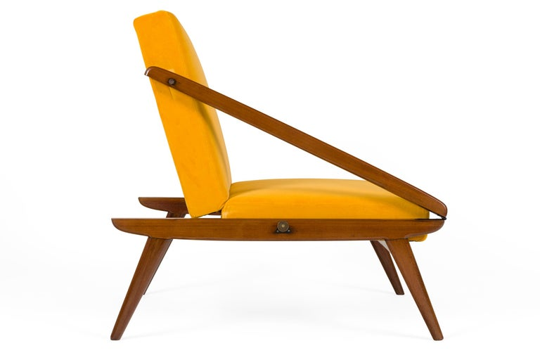 Italian Gio Ponti Adjustable Armchairs/Ottomans, Italy, 1955 For Sale