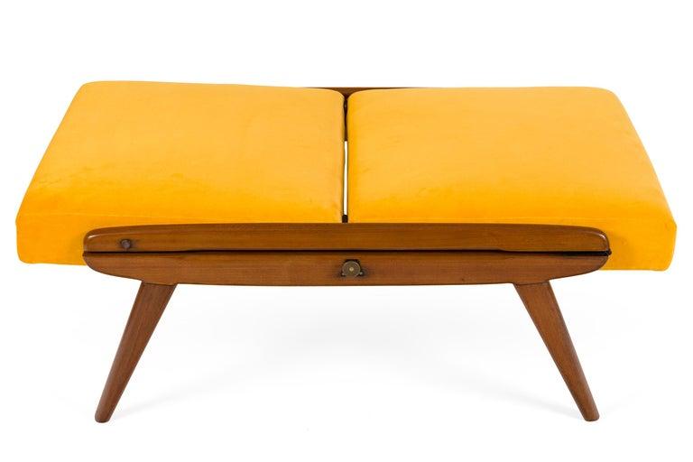 Mahogany Gio Ponti Adjustable Armchairs/Ottomans, Italy, 1955 For Sale