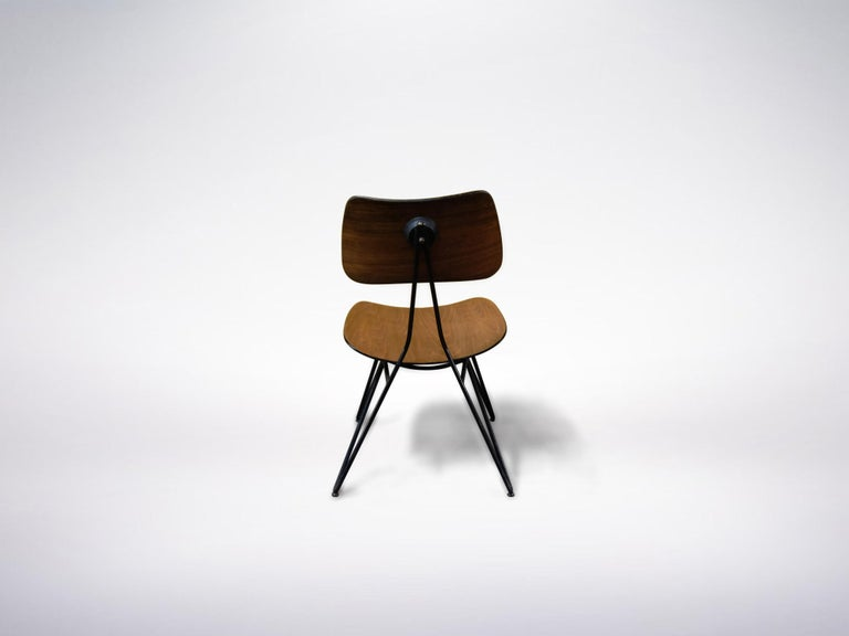 Mid-Century Modern Gio Ponti and Gastone Rinaldi for RIMA, Set of 2 Model DU10 Chairs, 1951 For Sale