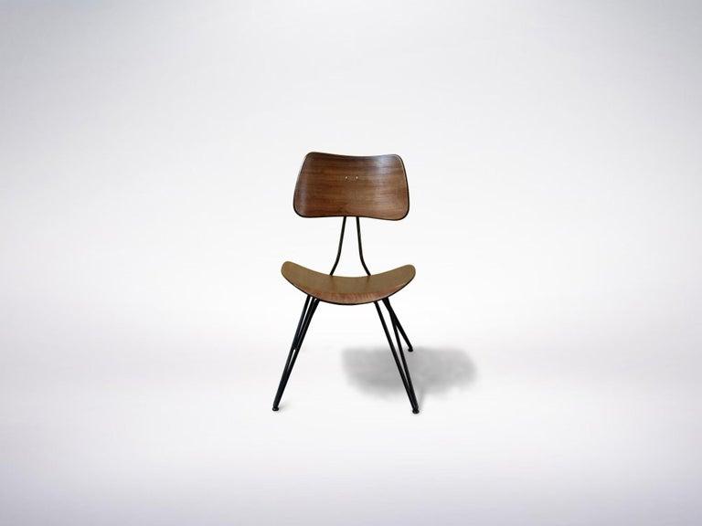 Italian Gio Ponti and Gastone Rinaldi for RIMA, Set of 2 Model DU10 Chairs, 1951 For Sale