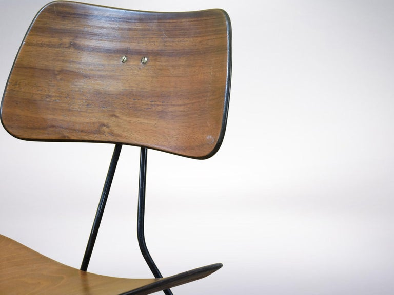 Gio Ponti and Gastone Rinaldi for RIMA, Set of 2 Model DU10 Chairs, 1951 In Good Condition For Sale In Milan, IT