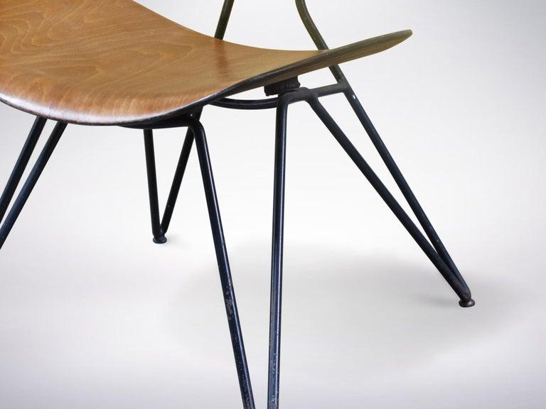 Mid-20th Century Gio Ponti and Gastone Rinaldi for RIMA, Set of 2 Model DU10 Chairs, 1951 For Sale
