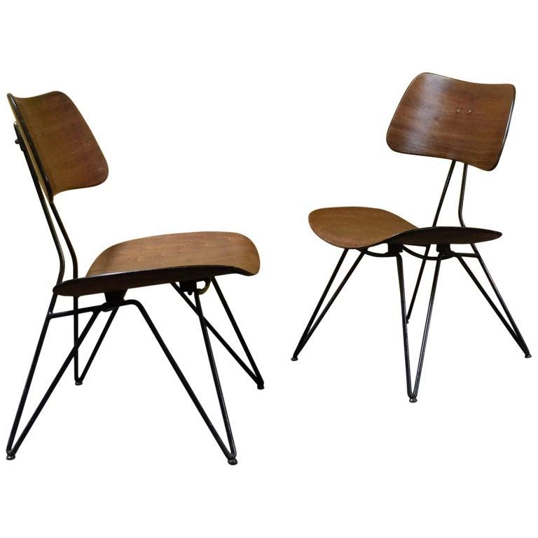 Gio Ponti and Gastone Rinaldi for RIMA, Set of 2 Model DU10 Chairs, 1951 For Sale