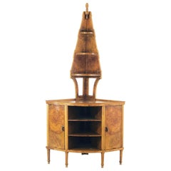 Gio Ponti Angular Cabinet Walnut Art Deco Execution Paolo Lietti, Cantù of 1925
