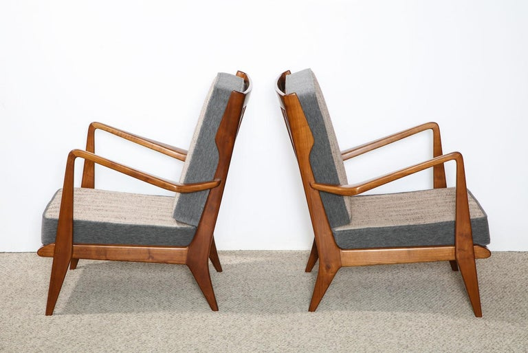 Gio Ponti Armchairs In Good Condition For Sale In New York, NY