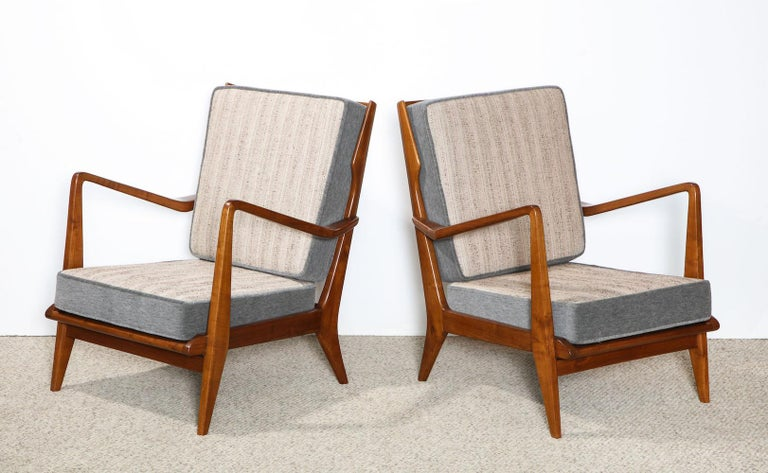 Upholstery Gio Ponti Armchairs For Sale