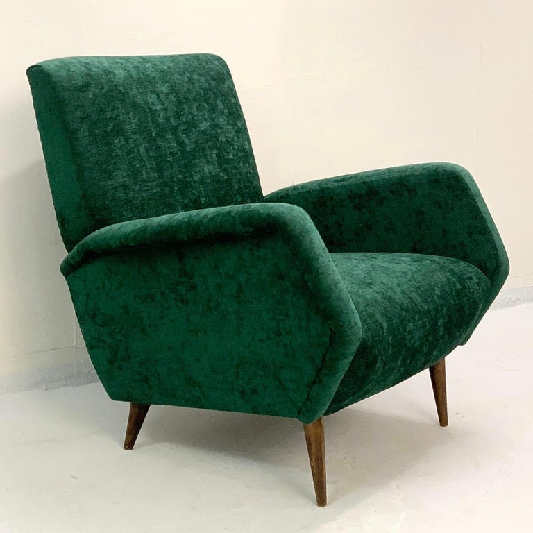 Gio Ponti Armchairs Model 803 for Cassina, Italy, 1954 In Good Condition For Sale In Brussels, BE