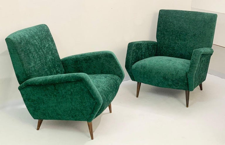 Mid-20th Century Gio Ponti Armchairs Model 803 for Cassina, Italy, 1954 For Sale