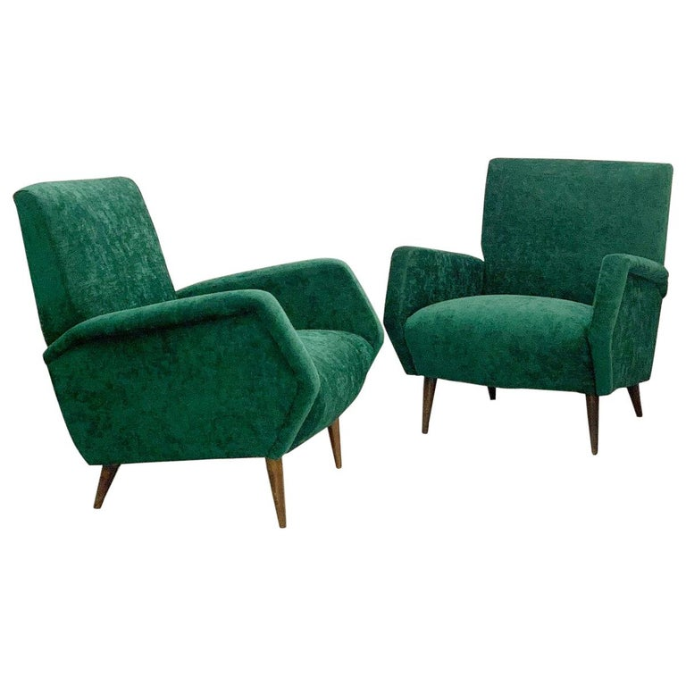 Gio Ponti Armchairs Model 803 for Cassina, Italy, 1954 For Sale