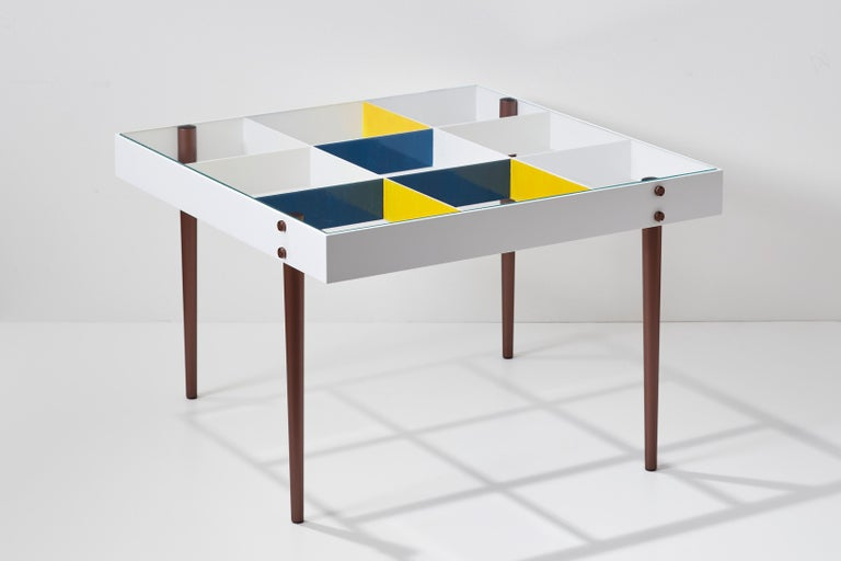 Mid-Century Modern Gio Ponti, Art Edition, the Planchart Coffee Table and a Set of Four Art Prints For Sale