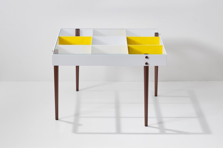 Italian Gio Ponti, Art Edition, the Planchart Coffee Table and a Set of Four Art Prints For Sale