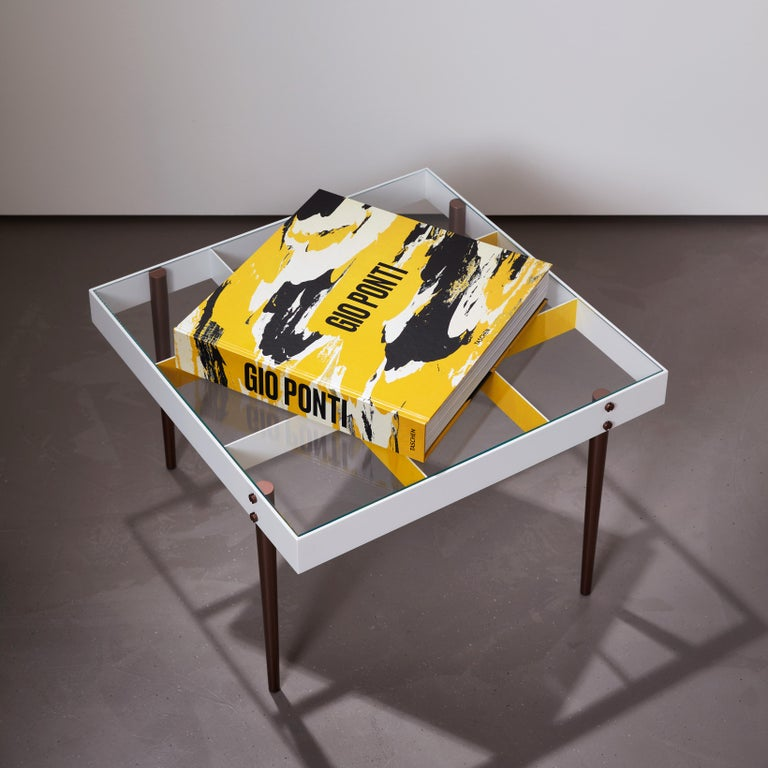 Glass Gio Ponti, Art Edition, the Planchart Coffee Table and a Set of Four Art Prints For Sale