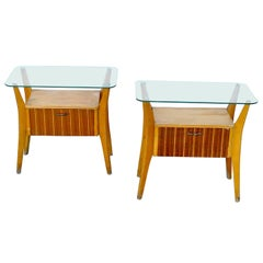 Gio Ponti Attributed Nightstands from the 1960s