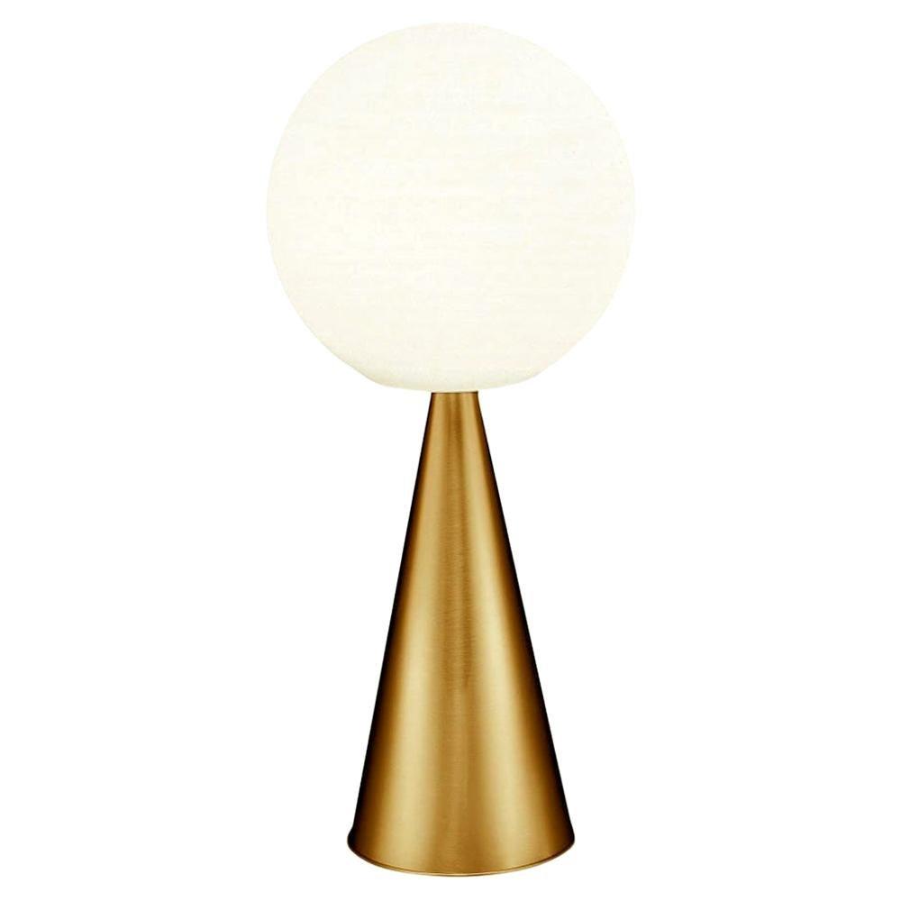 Gio Ponti 'Bilia Mini' Table Lamp in Brass and Blown Glass for Fontana Arte
